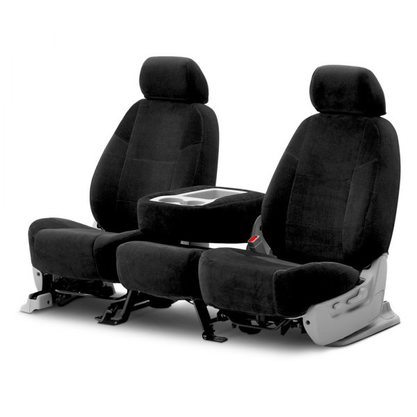 Coverking® - Velour 2nd Row Black Custom Seat Covers