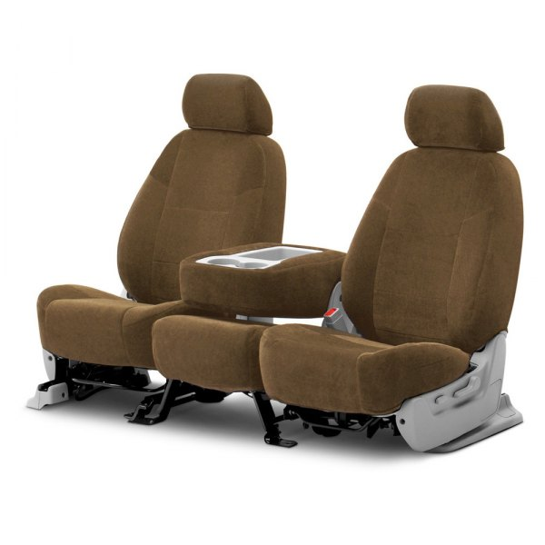 Coverking® - Velour 2nd Row Beige Custom Seat Covers