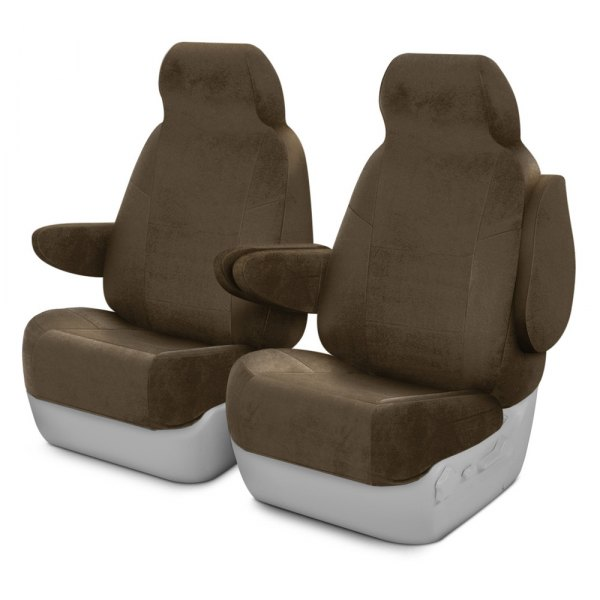 Coverking® - Velour 1st Row Taupe Custom Seat Covers