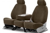 Coverking® - Velour 2nd Row Taupe Custom Seat Covers