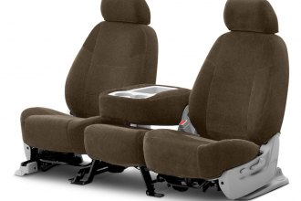 Coverking® CSCV15TT7118 - Velour 2nd Row Taupe Custom Seat Covers