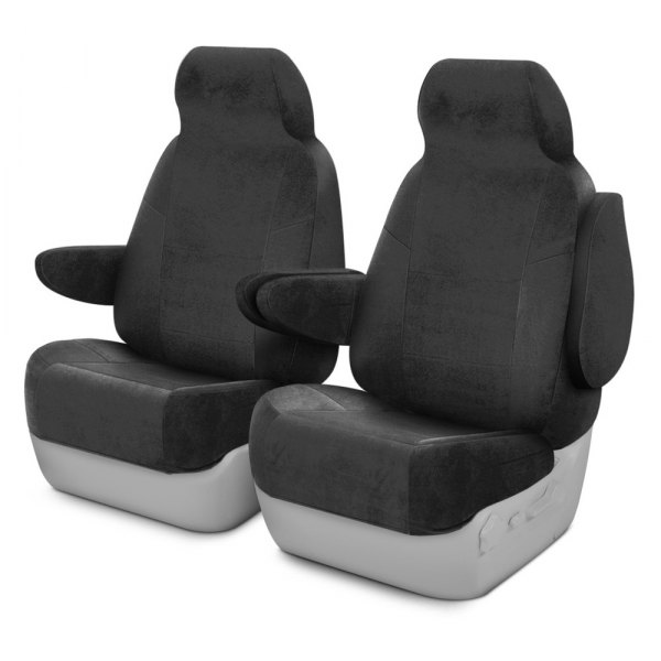 Coverking® - Velour 1st Row Charcoal Custom Seat Covers