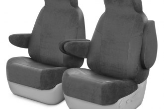 Coverking® CSCV3FD7118 - Velour 1st Row Gray Custom Seat Covers
