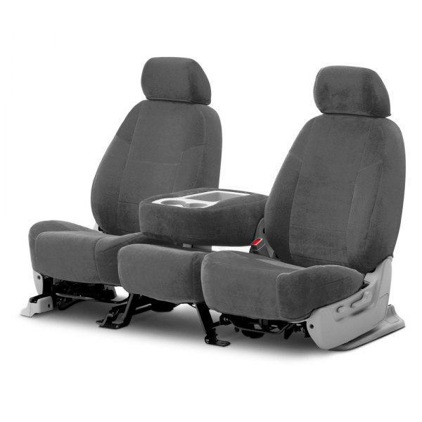Coverking® - Velour 2nd Row Gray Custom Seat Covers