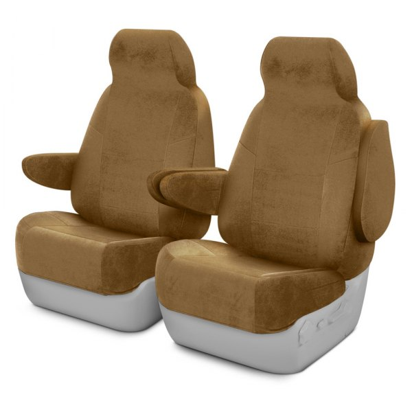 Coverking® - Velour 1st Row Tan Custom Seat Covers