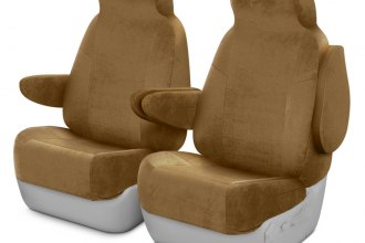 Coverking® CSCV5CH7010 - Velour 1st Row Tan Custom Seat Covers