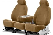 Coverking® - Velour 2nd Row Tan Custom Seat Covers