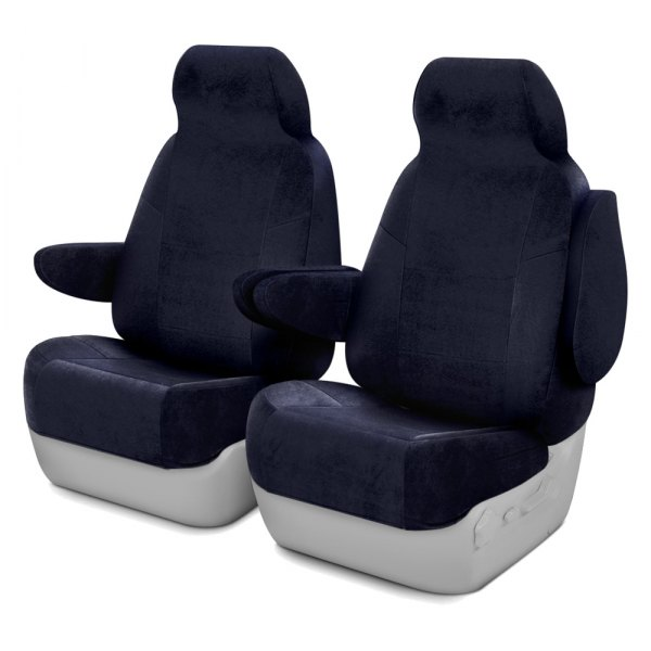 Coverking® - Velour 1st Row Dark Blue Custom Seat Covers