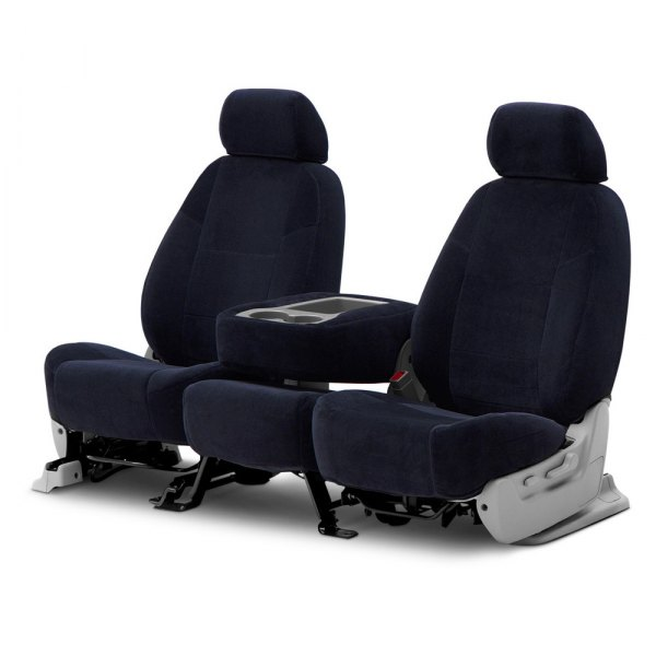 Coverking® - Velour 2nd Row Dark Blue Custom Seat Covers