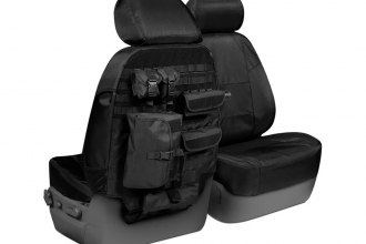 Coverking® CTSC1E1FD9642T - Cordura Ballistic 1st Row Black Tactical Custom Seat Covers
