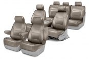 Image may not reflect your exact vehicle! Coverking® - Genuine Leather Custom Seat Covers Two Rows