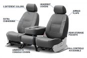Image may not reflect your exact vehicle! Coverking® - Genuine Leather Custom Seat Covers Features