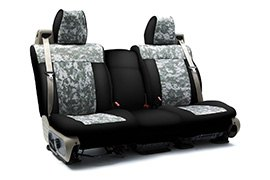 Digital Camouflage Seat Covers Jungle with Black Sides