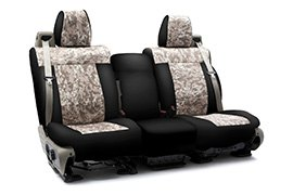 Digital Camouflage Seat Covers Sand with Black Sides