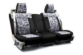 Digital Camouflage Seat Covers Urban with Black Sides