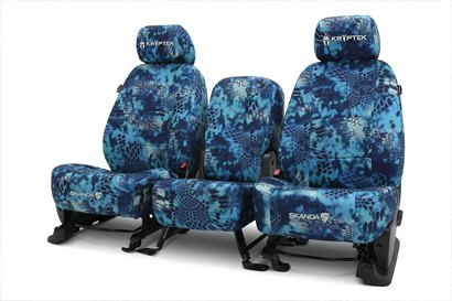 Coverking® - Custom Camouflage Seat Cover with Kryptek Pontus™ Pattern