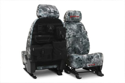 Coverking® - Custom Camouflage Tactical Seat Cover with Kryptek Raid™ Pattern