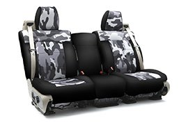 Traditional Camouflage Seat Covers Sand with Black Sides