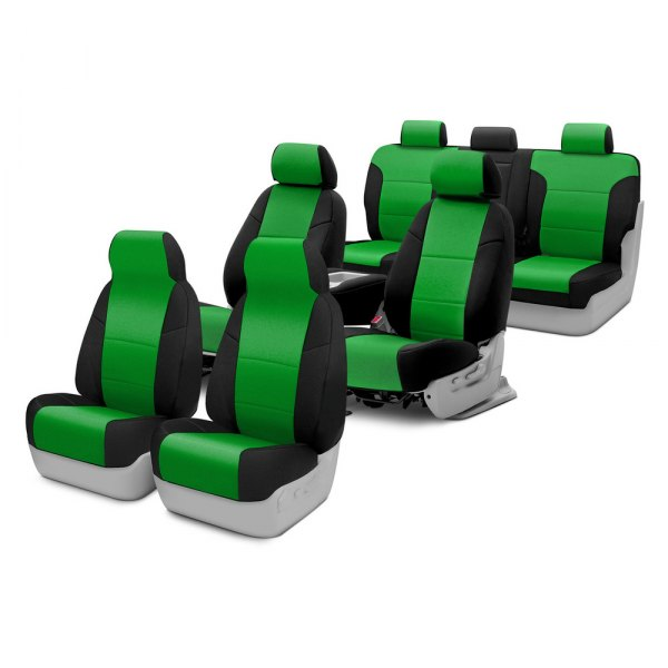 Image may not reflect your exact vehicle! Coverking® - CR-Grade Neoprene Custom Seat Covers Two Rows
