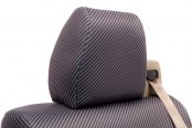 Coverking® - Rear Row Neosupreme Printed Custom Carbon Fiber Seat Covers