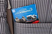 Coverking® - Rear Row Neosupreme Printed Custom Houndstooth Seat Covers