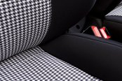 Coverking® - Front Row Neosupreme Printed Custom Houndstooth Seat Covers with Black Sides