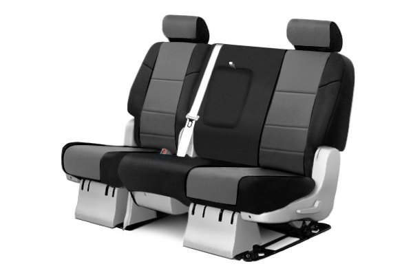 Coverking® - 2nd Row Neosupreme Custom Charcoal Seat Covers with Black Sides