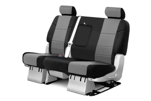 Coverking® - 2nd Row Neosupreme Custom Gray Seat Covers with Black Sides