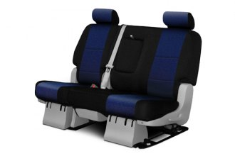 Coverking® CSC2A9TT9630 - 2nd Row Neosupreme Custom Navy Blue Seat Covers with Black Sides