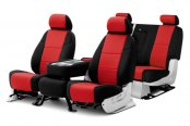 Coverking® - Neosupreme Custom Red Seat Covers with Black Sides