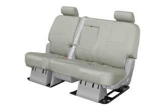 Coverking® CSC1P3FD7424 - 2nd Row Poly Cotton Custom Gray Seat Covers