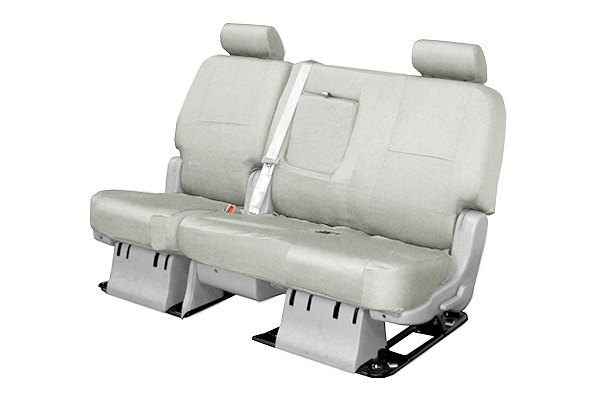 Coverking® - 2nd Row Poly Cotton Custom Light Gray Seat Covers