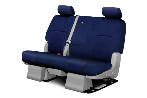 Coverking® - 2nd Row Poly Cotton Custom Navy Blue Seat Covers