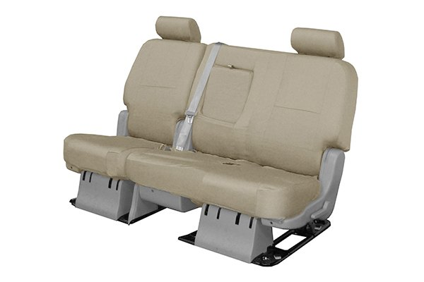 Coverking® - 2nd Row Poly Cotton Custom Tan Seat Covers