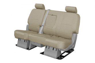 Coverking® CSC1P5TT7546 - 2nd Row Poly Cotton Custom Tan Seat Covers