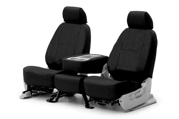 Coverking® - Poly Cotton Custom Black Seat Covers