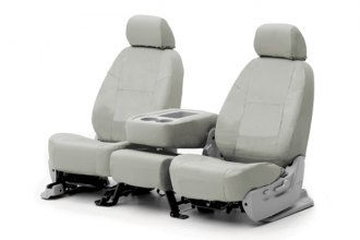 Coverking® CSC1P3DG7595 - 1st Row Poly Cotton Custom Gray Seat Covers