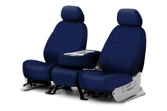 Coverking® CSC1P7MA7106 - 1st Row Poly Cotton Custom Navy Blue Seat Covers
