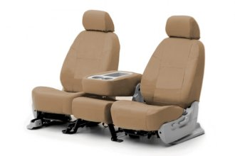 Coverking® CSC1P5VW7053 - 1st Row Poly Cotton Custom Tan Seat Covers