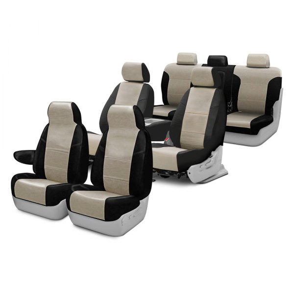 Image may not reflect your exact vehicle! Coverking® - Leatherette Custom Seat Covers Two Rows