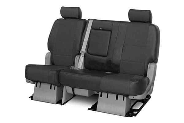 Coverking® - 2nd Row Premium Leatherette Custom Solid Charcoal Gray Seat Covers