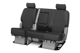 Coverking® CSCQ2GM7021 - 2nd Row Premium Leatherette Custom Solid Charcoal Seat Covers