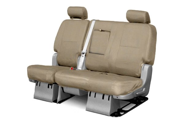 Coverking® - 2nd Row Premium Leatherette Custom Solid Taupe Seat Covers