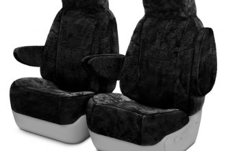 Coverking® CSCSG01FD7422 - Snuggleplush™ 1st Row Custom Black Seat Covers
