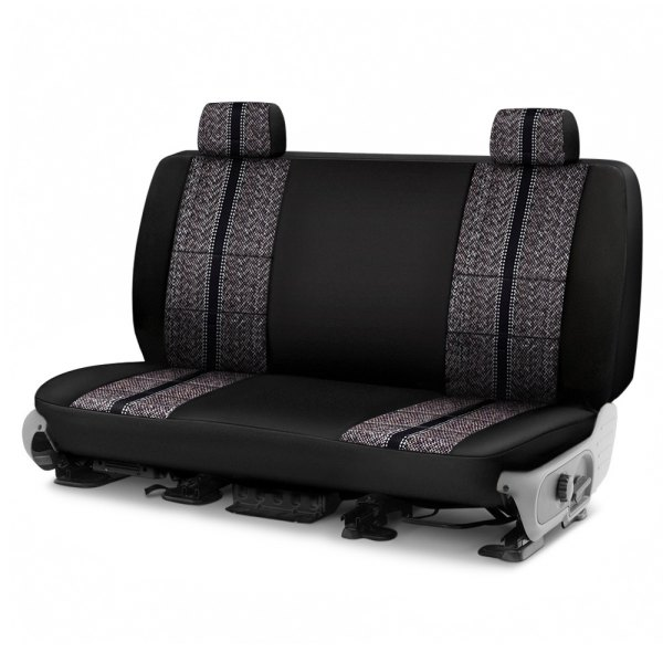 Coverking® - Saddleblanket 2nd Row Black Custom Seat Cover