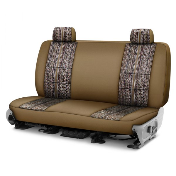 Image may not reflect your exact vehicle! Coverking® - Saddleblanket 1st Row Tan Custom Seat Cover