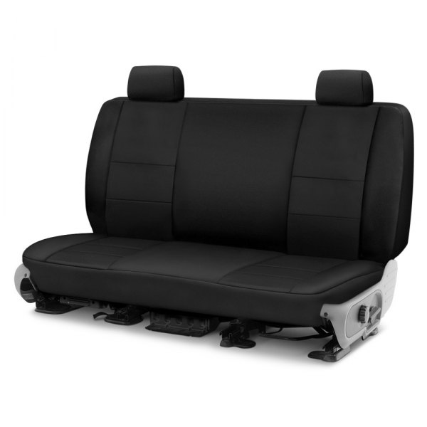 Coverking® - Polycotton Drill 1st Row Black Custom Seat Cover