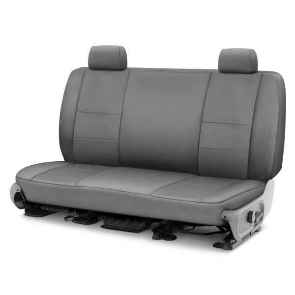 Image may not reflect your exact vehicle! Coverking® - Polycotton Drill 3rd Row Medium Gray Custom Seat Cover