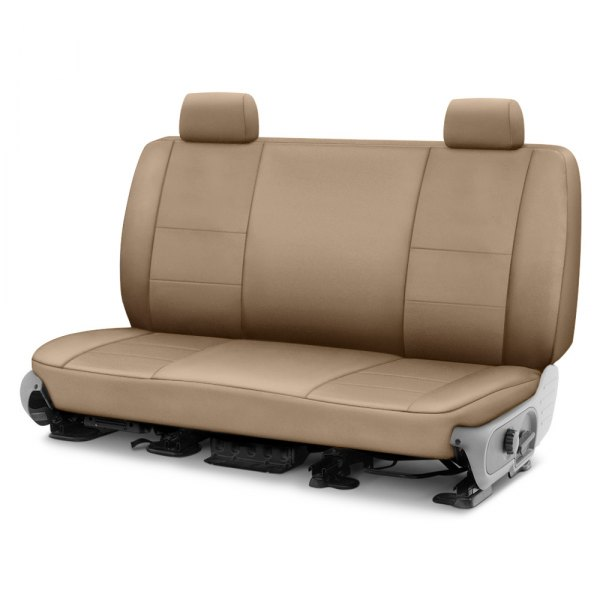 Image may not reflect your exact vehicle! Coverking® - Polycotton Drill 2nd Row Cashmere Custom Seat Cover