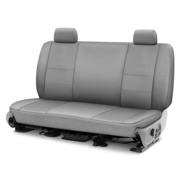 Image may not reflect your exact vehicle! Coverking® - Polycotton Drill 1st Row Light Gray Custom Seat Cover